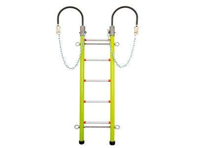 NESCO 2-Rail Hook Ladder Heavy-Duty Insulated Fiberglass